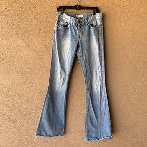 BKE Distressed Bootcut Denim Jeans